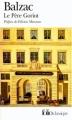 Couverture Le Père Goriot Editions Folio  (Classique) 1999