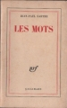 Couverture Les mots Editions Gallimard  (Blanche) 1964