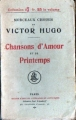 Couverture Chansons d'Amour et de Printemps Editions Paul Ollendorff 1910