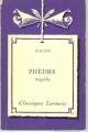 Couverture Phèdre Editions Larousse (Classiques) 1933