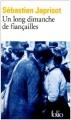 Couverture Un long dimanche de fiançailles Editions Folio  1991