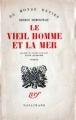 Couverture Le Vieil Homme et la mer Editions Gallimard  (Du monde entier) 1952
