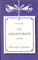 Couverture Le misanthrope / Le misanthrope ou l'atrabilaire amoureux Editions Larousse (Classiques) 1933