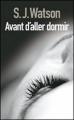 Couverture Avant d'aller dormir Editions France Loisirs 2011