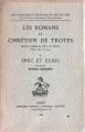 Couverture Erec et Enide Editions Honoré Champion (Les classiques français du Moyen-Âge) 1968