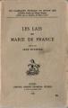 Couverture Lais / Les Lais Editions Honoré Champion (Les classiques français du Moyen-Âge) 1978