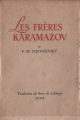 Couverture Les Frères Karamazov Editions Stock 1949