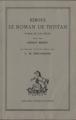 Couverture Tristan et Iseut / Tristan et Iseult / Tristan et Yseult / Tristan et Yseut Editions Honoré Champion (Les classiques français du Moyen-Âge) 1982