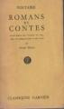 Couverture Romans et contes Editions Garnier (Classiques) 1958