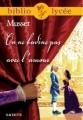Couverture On ne badine pas avec l'amour Editions Hachette (Biblio lycée) 2003
