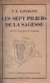 Couverture Les Sept Piliers de la Sagesse Editions Payot 1957