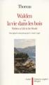 Couverture Walden ou la vie dans les bois / Walden Editions Aubier Flammarion (Bilingue) 1992
