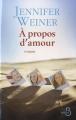 Couverture À propos d'amour Editions Belfond 2012