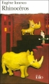 Couverture Rhinocéros Editions Folio  2001