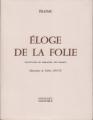 Couverture Eloge de la folie Editions Roissard 1973