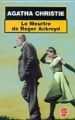 Couverture Le meurtre de Roger Ackroyd Editions Le Livre de Poche 1992
