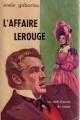 Couverture L'affaire Lerouge Editions Gallimard  1962