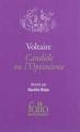 Couverture Candide / Candide ou l'optimisme Editions Folio  2012