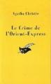 Couverture Le crime de l'orient-express Editions Librairie des  Champs-Elysées  (Le masque) 1992