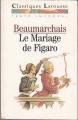 Couverture Le Mariage de Figaro Editions Larousse (Classiques) 1994