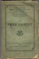 Couverture Le Père Goriot Editions Calmann-Lévy 1901