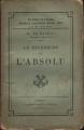 Couverture La recherche de l'absolu Editions Calmann-Lévy 1899