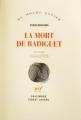 Couverture La mort de Radiguet Editions Gallimard  (Du monde entier) 2012