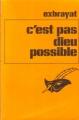 Couverture C'est pas dieu possible ! Editions Librairie des  Champs-Elysées  (Le masque) 1974