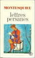 Couverture Lettres persanes Editions Flammarion (GF) 1964