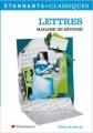 Couverture Lettres Editions Flammarion (GF - Etonnants classiques) 2006