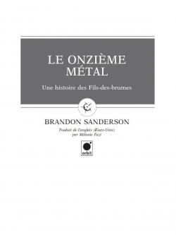 Couverture Fils-des-brumes, tome 0 : Le onzième métal