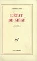Couverture L'état de siège Editions Gallimard  (Blanche) 1948