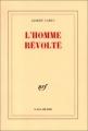 Couverture L'homme révolté Editions Gallimard  (Blanche) 1951