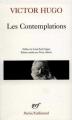 Couverture Les contemplations Editions Gallimard  (Poésie) 1982