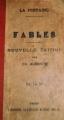 Couverture Fables Editions Belin frères 1919