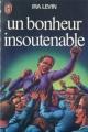 Couverture Un bonheur insoutenable Editions J'ai Lu 1978