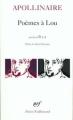 Couverture Poèmes à Lou Editions Gallimard  (Poésie) 2005