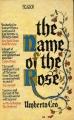 Couverture Le nom de la rose Editions Picador 1984