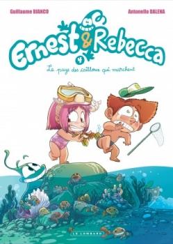 Couverture Ernest & Rebecca, tome 4 : Le pays des cailloux qui marchent