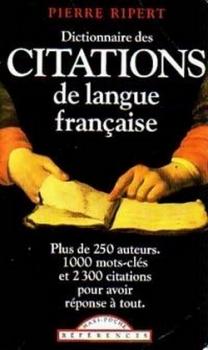 Couverture Dictionnaire des citations de langue française