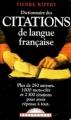 Couverture Dictionnaire des citations de langue française Editions Maxi Poche 2000