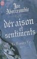 Couverture La première loi, tome 2 : Déraison et sentiments / Haut et court Editions J'ai Lu (Fantasy) 2012