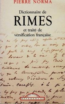 Couverture Dictionnaire de rimes et traité de versification française