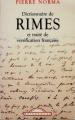 Couverture Dictionnaire de rimes et traité de versification française Editions Maxi Poche (Références) 2003
