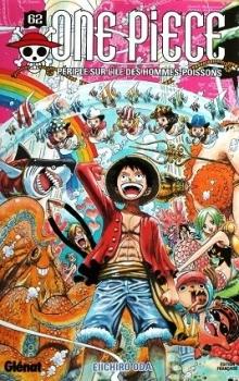 Couverture One Piece, tome 62 : Périple sur l'île des hommes-poissons