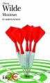 Couverture Maximes et autres textes Editions Folio  (2 €) 2011
