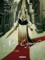 Couverture Nicolas Eymerich inquisiteur (BD), tome 3 : Le corps et le sang partie 1 Editions Delcourt (Machination) 2006