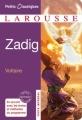 Couverture Zadig / Zadig ou la destinée Editions Larousse (Petits classiques) 2011