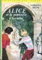 Couverture Alice et la pantoufle d'Hermine Editions Hachette (Bibliothèque verte) 1971