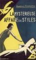 Couverture La Mystérieuse Affaire de Styles Editions du Masque 2007